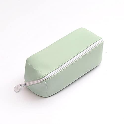 Estuche de lápiz de PU de gran capacidad, multifuncional impermeable bolsa de pasaporte con cremallera de papelería de almacenamiento de cosméticos bolsa de almacenamiento para mujeres
