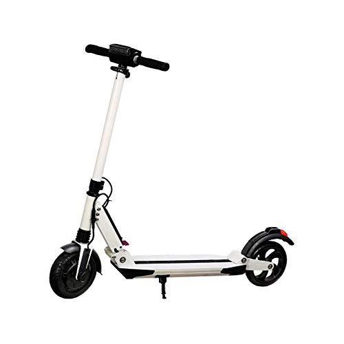 WAWZNN Monopattino Elettrico Pieghevole per Adulto Mini Hoverboard Scooter, velocità Massima 15 km/h, Carico 200 kg, Massima Resistenza 30KM, Regolabile in Altezza, per Adulti e Adolescenti,Bianca