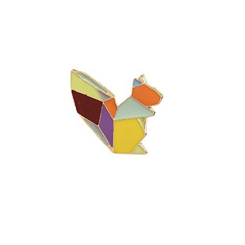 ABOOFAN 3 broches de esmalte para manualidades, diseño de ardilla, para bolsos, mochilas, chaquetas y sombreros (XZ015)