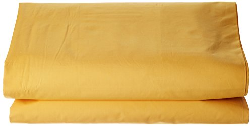 ESSIX Drap de lit uni, Coton, Jonquille, 180x290 cm
