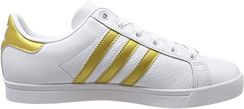 adidas Damen Coast Star Sneaker, Weiß (Footwear White/Gold Metallic/Grey 0), 38 EU