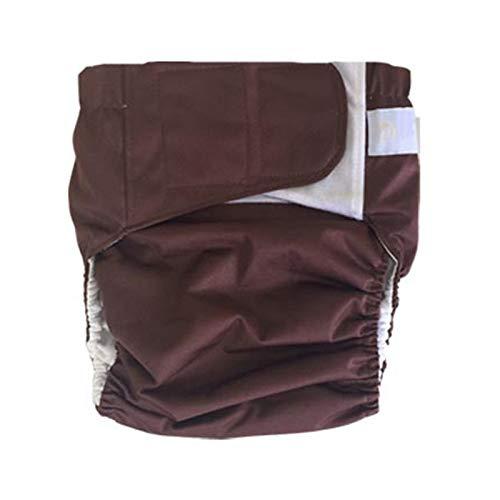 GLJY Teen Adult Stoffwindel Windel, wiederverwendbar waschbar für Inkontinenz Pflege Pflege Unterwäsche, S-XL,coffeecolor,L