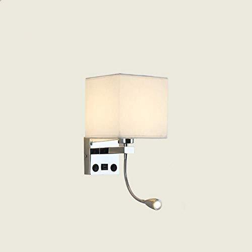 Lámpara De Pared Simple Y Fresca Apliques de pared LED simplicidad, 2 en 1 lámpara de pared Light Reading suave con luz de lectura flexible del LED, 2 Interruptores de palanca for la sala de estar, do