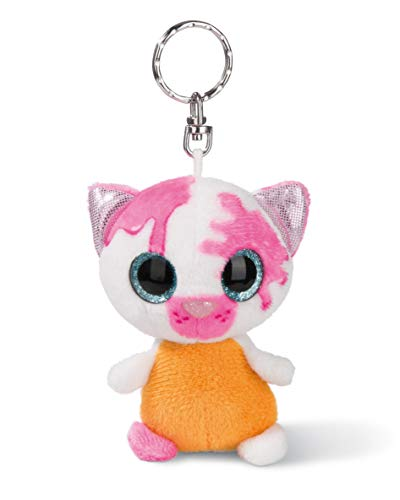 NICI 45285 NICIdoos Baby-Katze 9cm Schlüsselanhänger, Plüschtier mit Schlüsselring, bunt