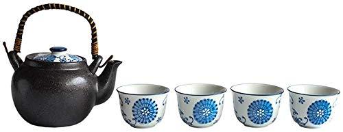 Teteras / Café Tetera de la taza de té de porcelana de cerámica Tetera con la manija y la taza de té Adecuado para el hogar y el jardín de oficina Sala de té Decoración de la casa exquisita para el ho