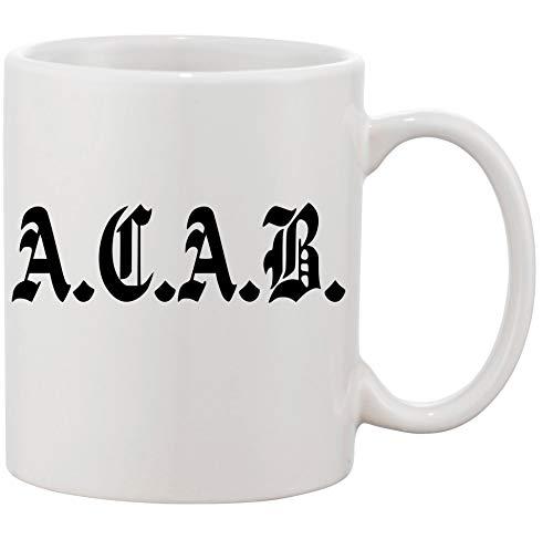 """Tasse mit Aufdruck - Modell\""""A.C.A.B. ACAB\"""" - Kaffeetasse Becher Teetasse Kaffeebecher"""