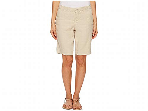 NYDJ Women's Petite Bermuda Linen Short, Feather, 8P