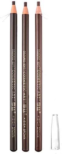 3 pcs Makeup Eyebrow 12H Long Lasting Sweat &Waterproof Eyebrow Pencil Pen Different Brown Pull Line Eye Brow Pencil 3 Colors