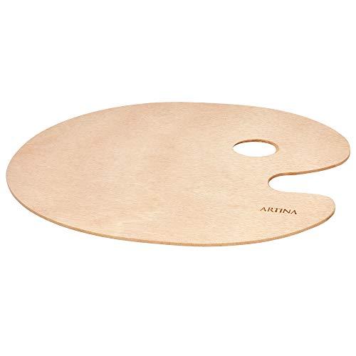 Artina paleta de madera redonda para la mezcla de pintura - 25x30cm