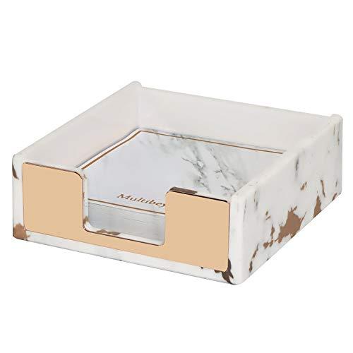 Marble Gold Memo Holder Self-Stick Memo Dispenser Desk Organizer Supplies for Home, Office, School