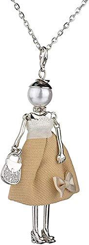 Collar Collar Arco creativo Niña Suéter humanoide Cadena Novias Enviar novia Regalo de joyería perfecto