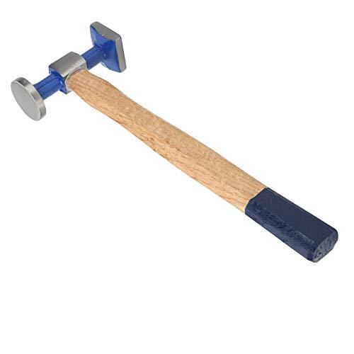 Martillo para chapa de madera, mango de madera Martillo de reparación de electricista de metal con cabeza cuadrada y redonda