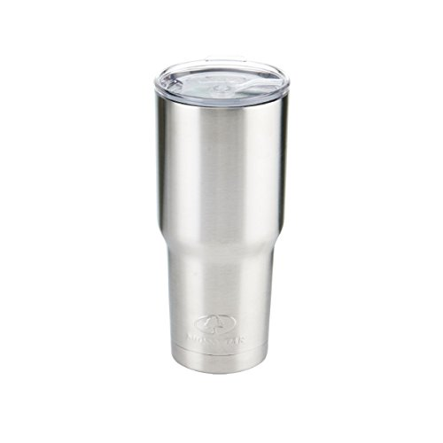 Mossy Oak Double Wall Stainless Steel Insulated Tumbler, 30 oz, Silver