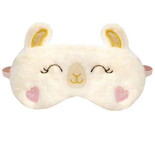 dressfan Nette Tier Alpaka Schlafmaske Cartoon Augenklappe Atmungsaktiv Flauschige Augenmaske Für Schlaf Reisen Kinder Erwachsene Dame,Mehrere Stile