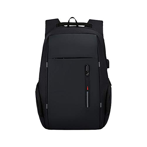 Laptop Backpack, Anti-Theft Business Travel Work Computer Rucksack with USB Charging Port, 15.6 Inch Large Lightweight College High School Bag for Men (Color : Black)