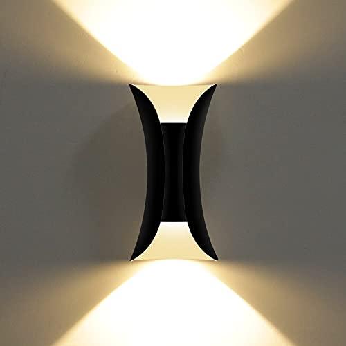 KAWELL 10W Creativo Moderno Apliques de Pared LED Bañadores de Pared Impermeable IP65 Aluminio Luces de Pared LED Interior Exterior para Dormitorio Sala de Estar Baño Porche Entrada Pasillo Escaleras