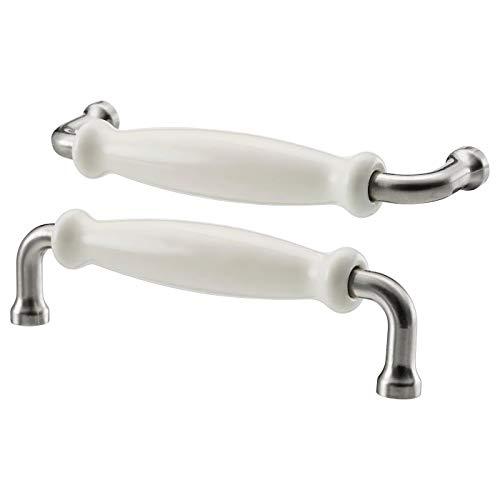Henkel Porzellan weiß 2 Stück Aufbaumaß Länge: 140 mm Breite: 12 mm Tiefe: 37 mm Bohrlochdurchmesser: 5 mm Lochabstand: 128 mm Verpackungsmenge: 2 Stück