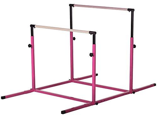 Nimble Sports Pink 3Play Gymnastics Bars - Parallel Bars - Uneven Bars