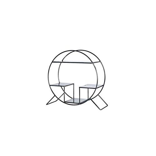 ChunSe Stockage à Domicile,Bureau étagères Nordic Home atterrissage Mobile Petite étagère Bureau décoration Mini Table avec décoration étagères en Fer (Taille: 40 * 15 * 38cm), f