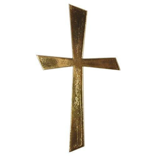 Rayher 31504000 Wachs-Motiv Kreuz Gold, 10,5x5,5cm, SB-Btl 1Stück
