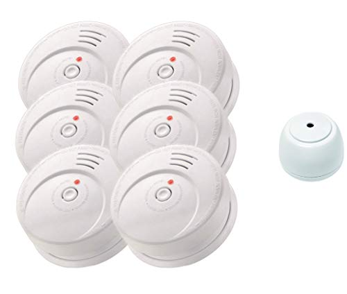 Jeising Sicherheits Set GS506 G 6er Set Rauchmelder/Brandmelder/ 10 Jahre Batterie KRIWAN zertifiziert EN14604 + gratis Wassermelder GS158