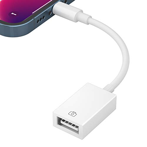 iPhone USB 変換 アダプタ USB カメラ アダプタ OTG機能 ケーブル 最新 iOS14 双方向 データ 転送 USB 変換 ケーブル 写真 ビデオ Office資料 読み書き 高速転送 カメラ/USBメモリ/マウス/キーボード/カードリーダー接続可能 iPhone/iPad/iPod専用 iOS 9.2以降に対応