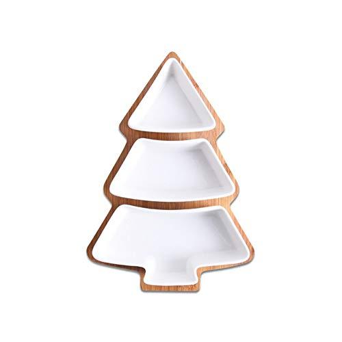 HAOZHAO 28cm del Sistema Completo de cerámica Bandeja árbol de Navidad de...