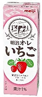 明治 オ・レ いちご 200ml紙パック×24本入×(2ケース)
