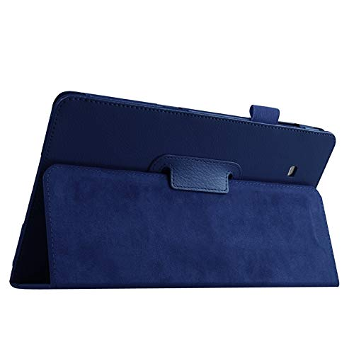GLXC AYDD Litchi Texture Leather Case with Holder for Galaxy Tab E 9.6 / T560 / T561 (Color : Dark Blue)