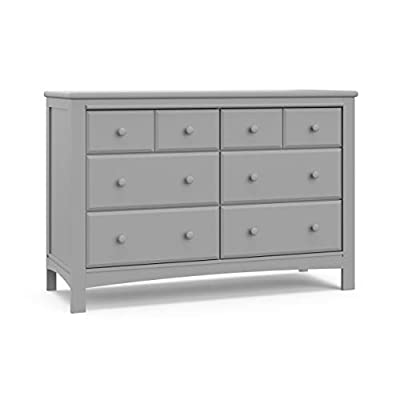 Graco Benton 6 Drawer Dresser (Pebble Gray) – Easy New Assembly Process, Universal Design, Durable Steel Hardware and Euro-Glide Drawers with Safety Stops, Coordinates with Any Nursery