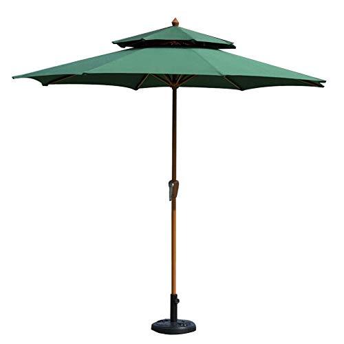 FEE-ZC Sombrillas 2.7M Patio Circular con manivela sinuosa - Sombrilla para sombrilla para Exteriores, jardín, Playa, Protector Solar para Piscinas (Color: Rojo Vino)