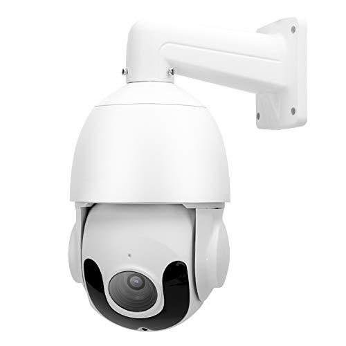 Cámara de Seguridad de visión Nocturna Impermeable de 3MP, Sistema HD IP66 con Zoom de 30x, Soporte para ONVIF (100‑240V)(Enchufe de la UE)