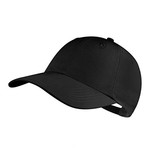 GADIEMKENSD Baseballkappe, unstrukturiert, schnelltrocknend, leicht, atmungsaktiv, Herren, B13-black, Einheitsgröße