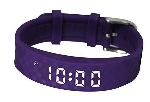 Pivotell Vibratime Vibrating Reminder Watch - Black with Additional Purple...