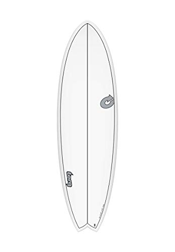 TORQ CS Fish epoxy tet Tabla de Surf - Blanco, 6.6 FT