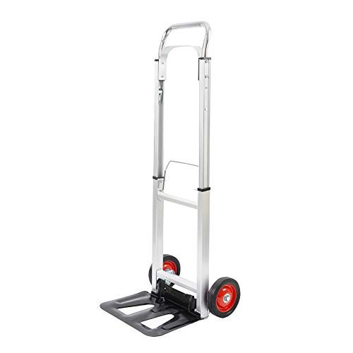 LEADALLWAY Aluminum Hand Truck with 6quot Wheels 220 lb Capacity