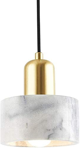 Marble Pendant Light Modern Mini Drum Light Fixtures for Dining Table Kitchen Island Living product image