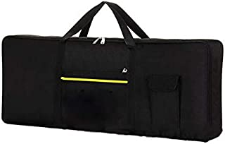 61 Keys Electric Piano Pack Waterproof Universal Instrument Keyboard Bag Thickened Electric Piano Cover Case - Black