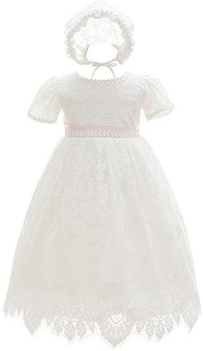 Silver Mermaid Baby Girls Special Occasion Formal Dresses Lace Gown Outfit 18M Ivory White product image