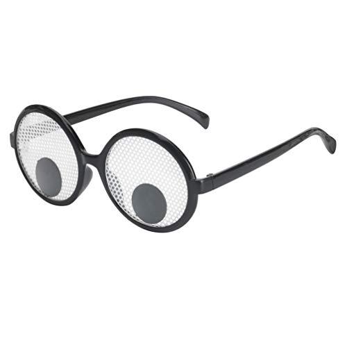 NUOBESTY 1 unid Ojos saltones Gafas Gafas Gafas de Sol Fiesta favorece Juguetes Divertidos Ojos temblorosos Bolas Vidrio Gafas de Sol Googly para Mujeres Hombres niños Fiesta Divertida