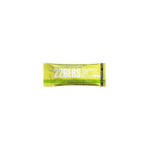 226ERS Bio Energy Gel   Geles Energéticos con Sales Minerales y 25mg de Cafeína, Geles Ciclismo y Runnning, Limón - 1 unidad x 25g