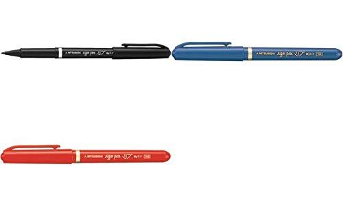 三菱鉛筆 水性サインペン リブ MYT7.15 赤 【 3セット】