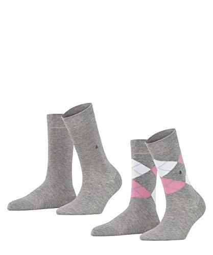 Burlington Damen Socken Everyday - Baumwollmischung, 2 Paar, Grau (Light Grey 3401), Größe: 36-41