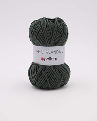 phildar Phil Irlandais - Ovillo de lana (50 g), Vert de gris