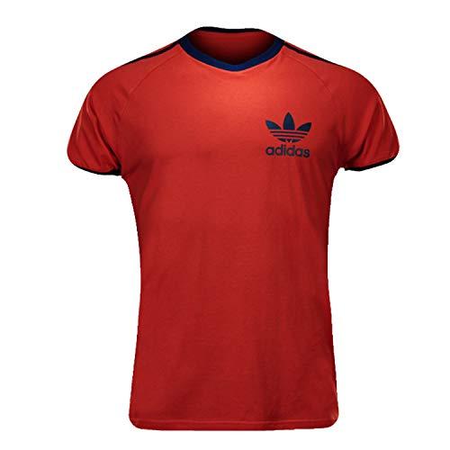 Adidas Originals - Camiseta para hombre, color rojo Rojo rojo, negro M