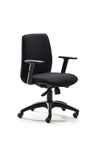 VAGHI BURSA QUICK - Poltrona Operativa, schienale medio imbottito, sedile girevole, elevabile,...