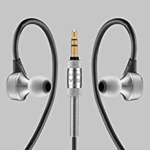 RHA MA750 In-Ear Headphones: Hi-Res Stainless Steel Noise Isolating Earphones with Ear Hooks