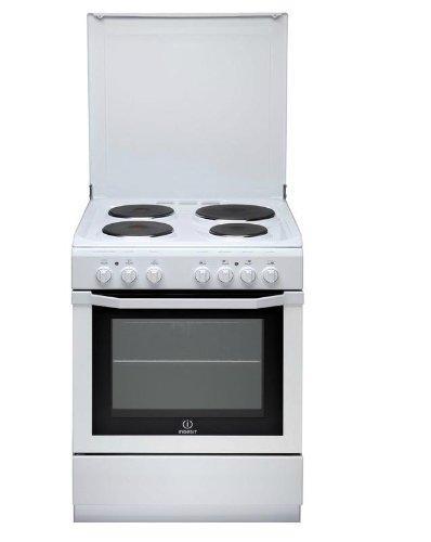 Cuisiniere electrique Indesit I6E6C1AEWFR - Blanc - Classe énergétique A / Plaque Electrique / Four Electrique Multifonction - Catalyse
