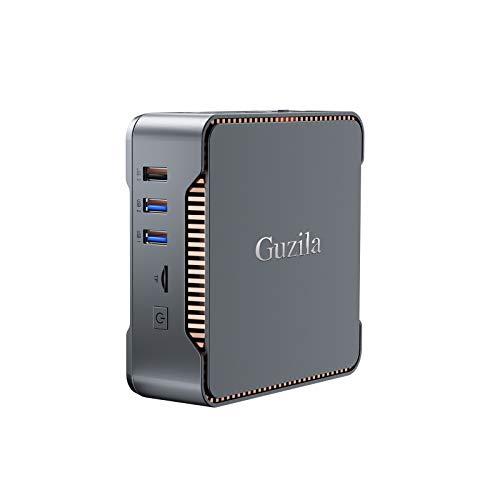 GUZILA Mini PC,Intel Cerelon J4125 Processor(up to 2.7GHz) Windows 10 Pro Mini Desktop Computer with 8GB DDR4/128GB SSD,Support Triple Display,Gigabit Ethernet,Dual Band Wi-Fi,Bluetooth 4.2,4K HD