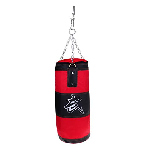 SM SunniMix Boxsack Home Stanzen Sandsäcke Kampfkunst Kickboxing Training Rot 70-70 cm